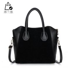 f2a380e1a9cff Fashion bags 2016 women s nubuck leather patchwork handbag smiley bag women  shoulder bag women s bags HJPHOEBAG-in Top-Handle Bags from Luggage   Bags  on ...