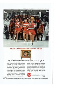 1963 Advertisement RCA Color TV New Vista Victor Sing Along With Mitch Living Color Television Technology Electronics Wall Art Decor Vintage Tv Ads, Vintage Magazines, Vintage Advertisements, Color Television, Vintage Television, Televisions, Tvs, Antique Radio, Record Players