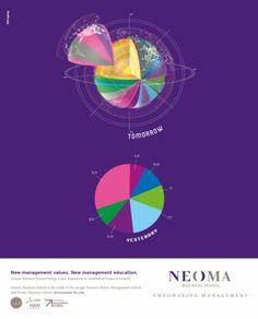 NEOMA : 3D big data - Print - International campaign.