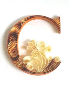 Beautiful Paper Quilling Letter Patterns By Sabeena Karnik