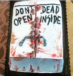 The walking dead, dont open dead inside, cake, cook, bake