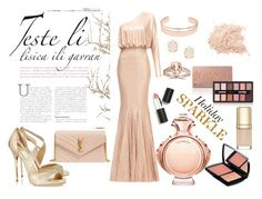 """Holiday sparkle"" by madalina-elena-istrati on Polyvore featuring Paco Rabanne, Jimmy Choo, Leith, Kendra Scott, Yves Saint Laurent, Dolce&Gabbana, Sigma Beauty and Lancôme"