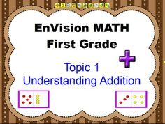 * This is an ActivInspire flipchart and will not open with SMART NOTEBOOK.This ActivInspire flipchart supplements the First Grade Envision MATH series by Pearson. It covers all lessons in topic 1 Understanding addition but could be used  with any math series.