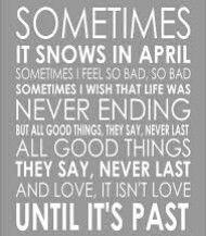 "Prince ""Sometimes it snows In April"""