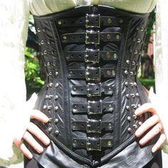 corset pattern | ... Leather Steel Boned VAN HELSING STEAMPUNK UNDERBUST CORSET CINCHER