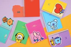 Lined Notebook / Lined Journal Notebook / Bullet Journal / Spiral Scrapbook / School Notebook / Shooky Koya Cooky Chimmy Mang RJ Tata Lined Notebook, Journal Notebook, Bts Doll, Photo Calendar, Bts Calendar, Easy Disney Drawings, Journaling, Korean Stationery, School Notebooks