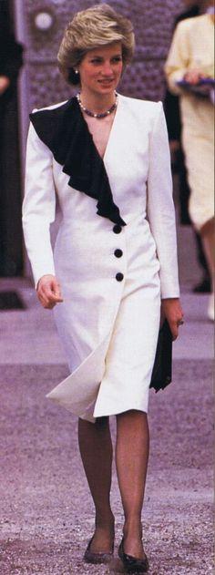 Princess Diana at Augarten Palace April 1986