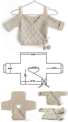 Previous Post Next Post Grandma Owl: 26 baby outfit models, # BABY clothing … Knitting For Kids, Baby Knitting Patterns, Baby Patterns, Knitting Projects, Crochet Patterns, Free Knitting, Baby Outfits, Crochet Baby Clothes, Baby Cardigan