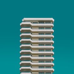 architecture, built structure, building exterior, low angle view, window, city, blue, repetition, residential building, tall - high, residential structure, clear sky, in a row, apartment, tower, building story, skyscraper, day, outdoors, city life, modern, no people, office building, architectural feature, conformity