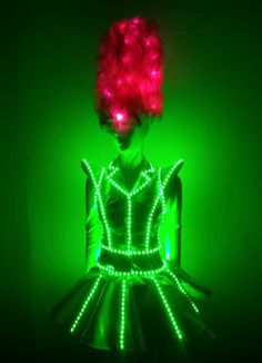 CS0070 Womens dancing led costume