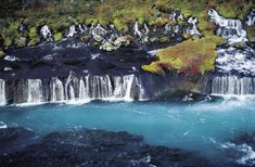 Hraunfossar Waterfall in Iceland #waterfalls #ExtremeIceland #Iceland
