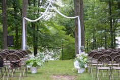 outside altar wedding idea - Google Search