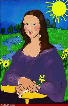 Mona Lisa Child's Painting