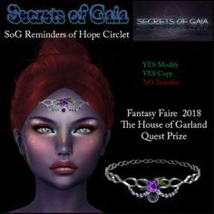 Merchant: Secret of Gaia Name: Reminders of Hope Circlet Circlet, Gaia, The Secret, Fantasy, Movie Posters, Film Poster, Imagination, Popcorn Posters, Fantasy Movies