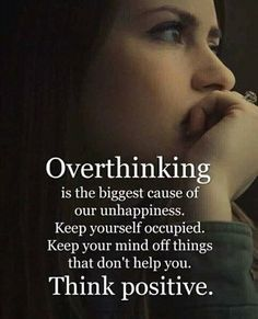 Inspirational Positive Quotes :Overthinking is the biggest cause of our unhappiness. Apj Quotes, Quotable Quotes, Wisdom Quotes, True Quotes, Words Quotes, Motivational Quotes, Inspirational Quotes, Sayings, Funny Quotes