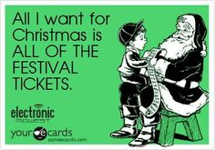 Get on it, Santa #festivals #christmas #edm