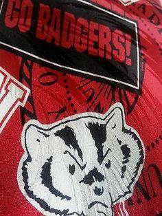 Men's 100 Silk Tie Wisconsin Bucky Badgers | eBay