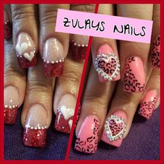 VALENTINE NAILS by ZULAYSNAILS - Nail Art Gallery nailartgallery.nailsmag.com by Nails Magazine www.nailsmag.com #nailart