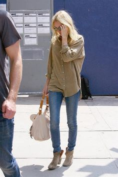 Kate Bosworth jeans and short boots