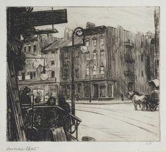 """Carmine Street,"" 1915–18 by Edward Hopper  Philadelphia Museum of Art | Our Story"
