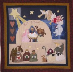 PETITS PUNTS PATCH': Navidad Christmas Applique, Christmas Sewing, Christmas Art, Xmas, Christmas Wall Hangings, Winter Quilts, Hanging Pictures, Quilt Patterns, Patches