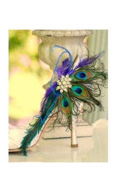 Shoe Clips Peacock Fan. Couture Bride Bridal by sofisticata, $66.00