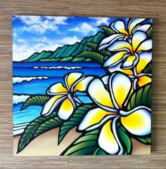 This was painted by a friend of mine. For those of you who haven't been, Hawaii does actually look just like this.