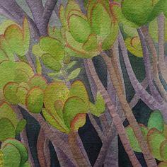 Jade Plant Original Watercolor, 6.5 x 10.5 Inches