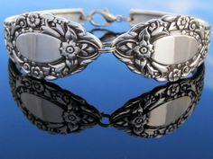 Wide Silver Spoon Bracelet Medium Rendezvous Old by dankartistry, $27.00