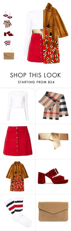 """""""Proud //"""" by girl-pictured ❤ liked on Polyvore featuring Proenza Schouler, Burberry, Ines de la Fressange, Maison Boinet, Gucci, Finery London and Humble Chic"""