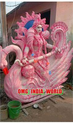 Saraswati Photo, Saraswati Idol, Saraswati Statue, Saraswati Goddess, Photo Background Images Hd, Photo Backgrounds, Saraswati Murti, Durga Ji, Indian Temple Architecture