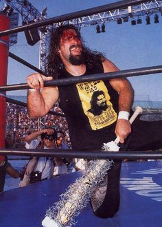 Mick Foley covered in blood
