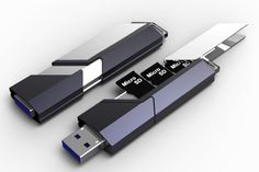 The CollectorL This concept USB drive, dubbed The Collector, could potentially solve our conundrum by allowing us to toss all those thumb drives and find a use for our now homeless microSD chips.