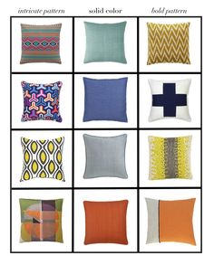 How to mix and match throw pillows...