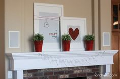 I Heart You: Valentine's Day Mantel - Landee See Landee Do