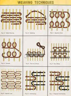 how to weave: Vagonite - Huck Weaving - Swedish weaving - Yoguslav point - Punto yugoslavo - Ponto jugoslavo - Punto filza