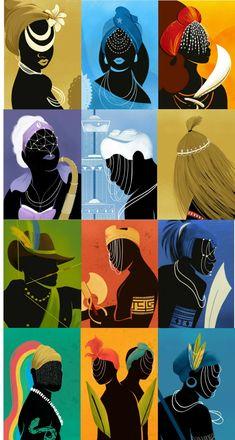 Religion In Africa, Yoruba Religion, Black Women Art, Black Art, Yoruba Orishas, African Mythology, Brown Art, Illusion Art, Psychedelic Art