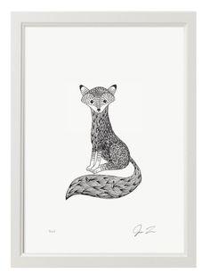 Justin Landon Tiny Fox Print (Din A4)