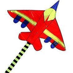 Hengda-Kite-Long-Tail-Cartoon-Fighter-Kites-the-Plane-Kite-for-Children-15m-with-Flying-Line-0
