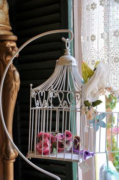 Birdcage And Flowers by Jan Amiss Photography - Birdcage And ...