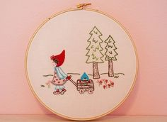 Woodland Walk Embroidery PATTERN by alittlesweetness on Etsy, $8.00
