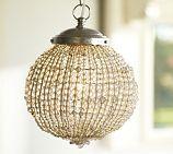 Keira Beaded Glass Pendant | Pottery Barn. 80 usd sale