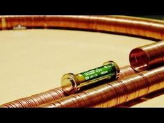 This is a new version of homopolar motor. Is necessary that the battery with the magnets is supported on a material that conducts electricity as the tinfoil....