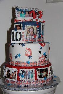 lekker zoet: One Direction taart voor jarige Indy....