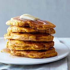 18 fall pumpkin recipes | Pumpkin Apple Pancakes | Sunset.com    Made these over the weekend...so good with the apple bits!