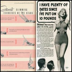Vintage exercises and weight gain products ;)