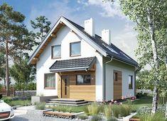 Eklerka - murowana – beton komórkowy - zdjęcie 1 House In The Woods, Tiny House, House Plans, Garage Doors, Outdoor Structures, House Styles, Outdoor Decor, Home Decor, House Ideas
