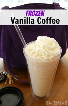 Frozen Vanilla Coffee Recipe To Mix Up The Daily Routine! - Fun Learning Life - Frozen Vanilla Coffee Recipe To Mix Up The Daily Routine! Vanilla Frappe Recipes, Vanilla Frappuccino, Vanilla Smoothie, Frozen Cappuccino Recipe, Frozen Latte Recipe, French Vanilla Iced Coffee Recipe, Frozen Coffee Drinks, Coffee Drink Recipes, Blended Coffee Drinks