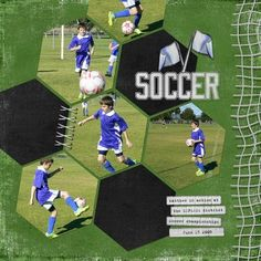 Sweet soccer layout!!  cute hexagon idea...might works with volleyball hexagon