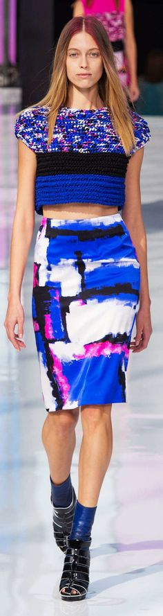 Maxime Simoens Collection Spring 2015 (i love the skirt hate the shoes and sweater shirt)